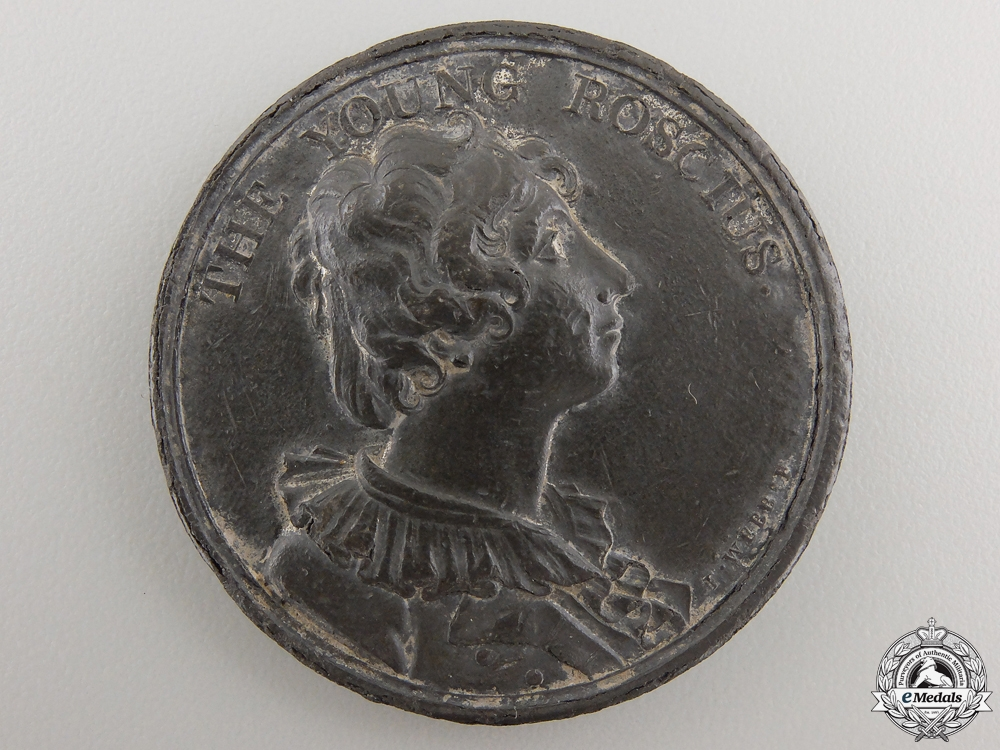 "An 1804 William Henry West Betty ""The Young Roscius"" Medal"
