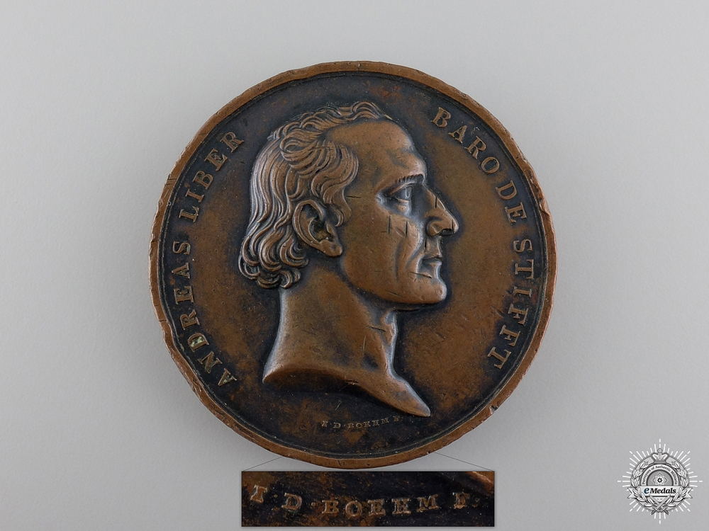 An 1834 Baron de Stifft Commemorative Table Medal