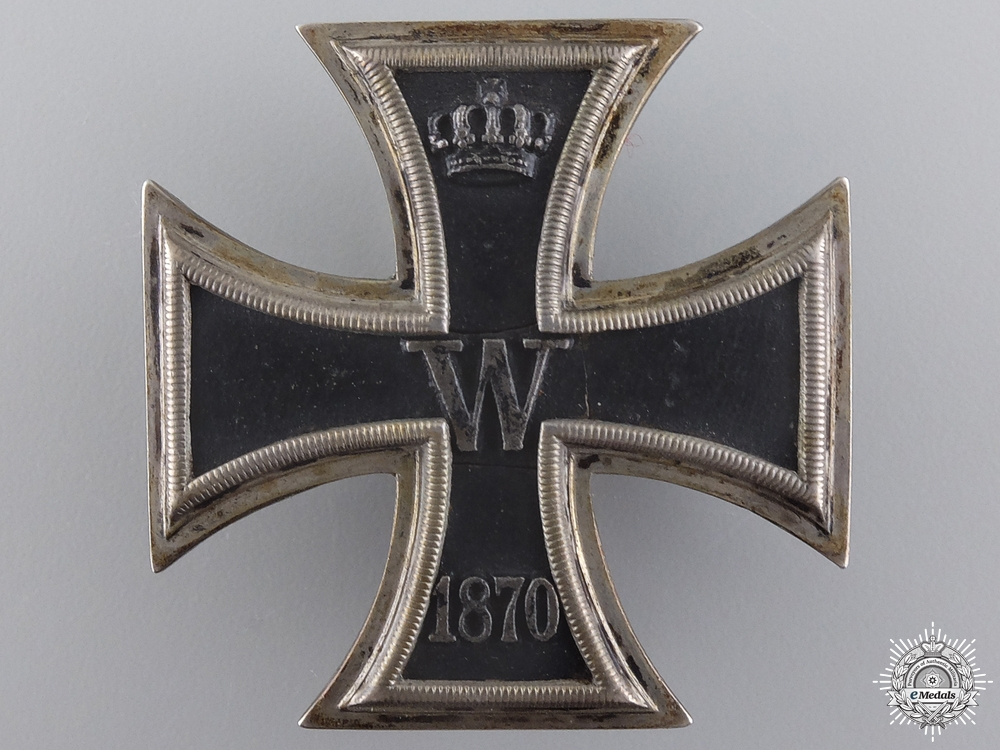 An 1870 Iron Cross 1st Class to Ferdinand von Unruhe