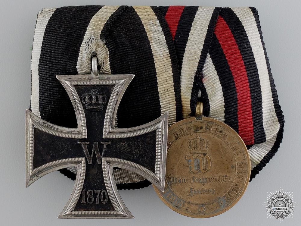 An 1870 Iron Cross Second Class Medal Pairing; A Type