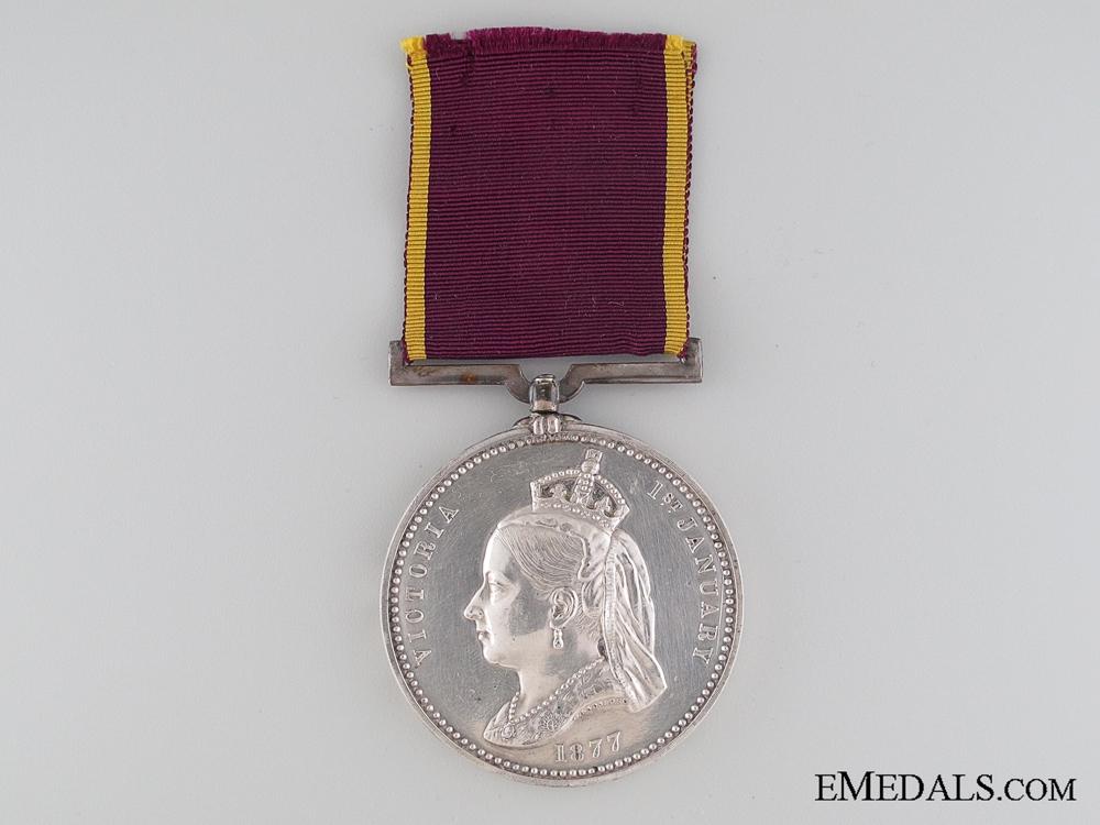 An 1877 Empress of India Medal