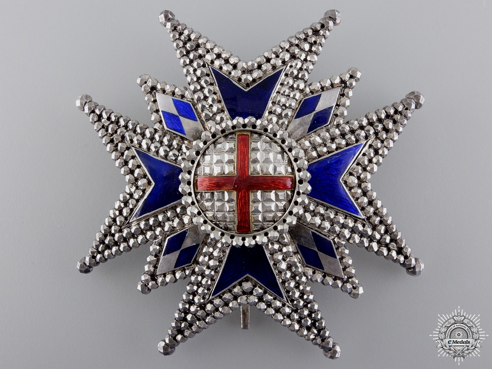 An 1880's Bavarian Military House Order of St. George; Commander's Star