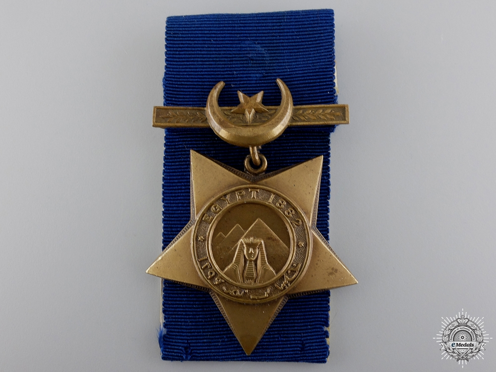 An 1882 Khedive's Star to the 3rd King's Royal Rifles