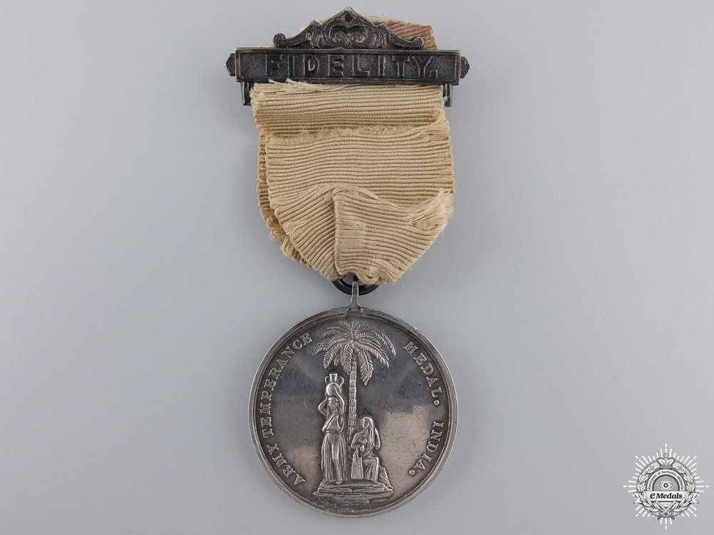 An 1887 Army Temperance Association; India Medal