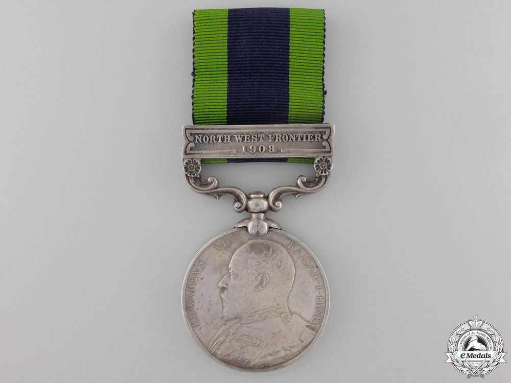 An 1908-1935 India General Service Medal to the Q.O.C. Guides