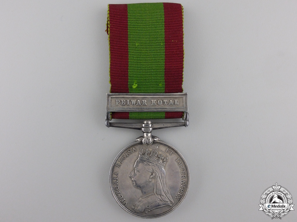 An Afghanistan Medal to the 2nd Punjab Infantry for Peiwar Kotal