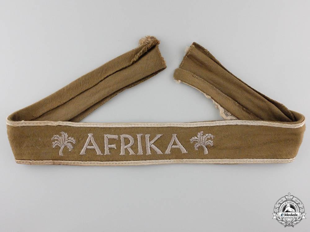 An Afrika Campaign Cufftitle; Uniform Removed