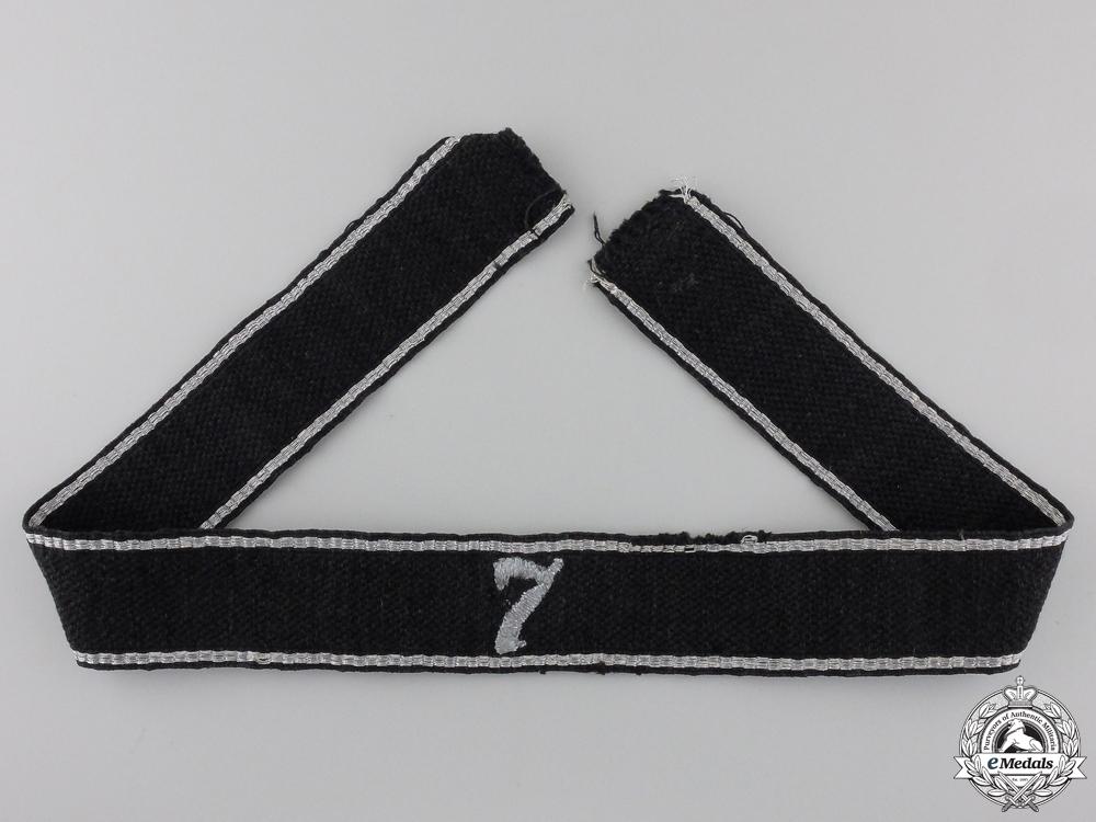 An Allgemeine-SS 7th Standarte Officer's Cufftitle
