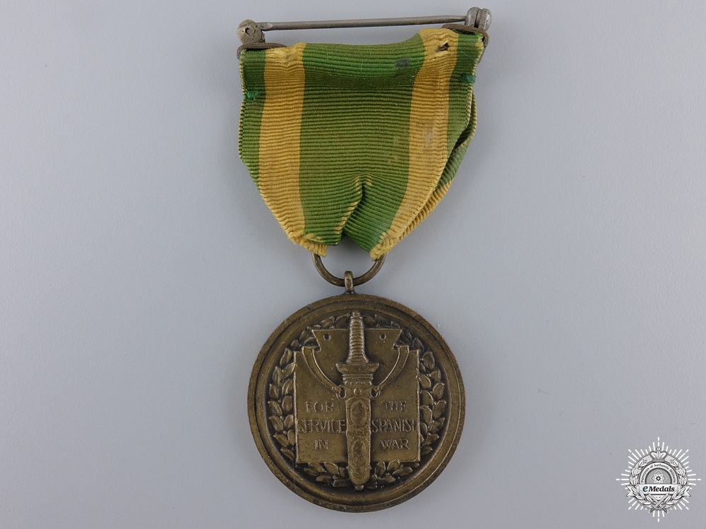 An American Army Spanish War Service Medal; Numbered