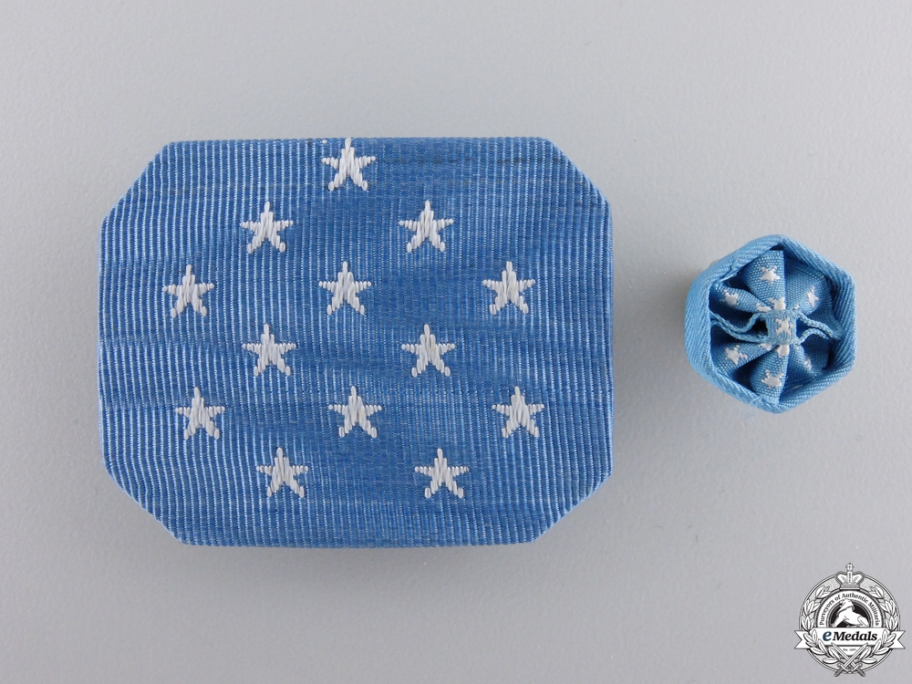 An American Army Medal of Honor 3 Hook Cravat Pad & Rosette