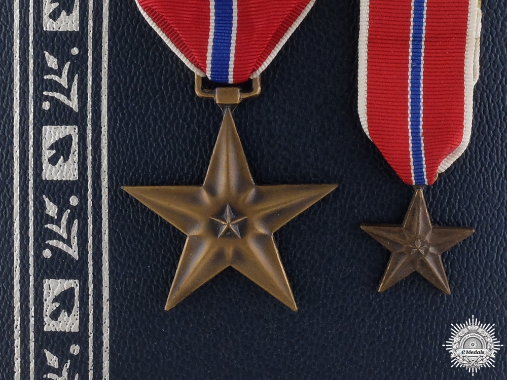 An American Bronze Star with Miniature