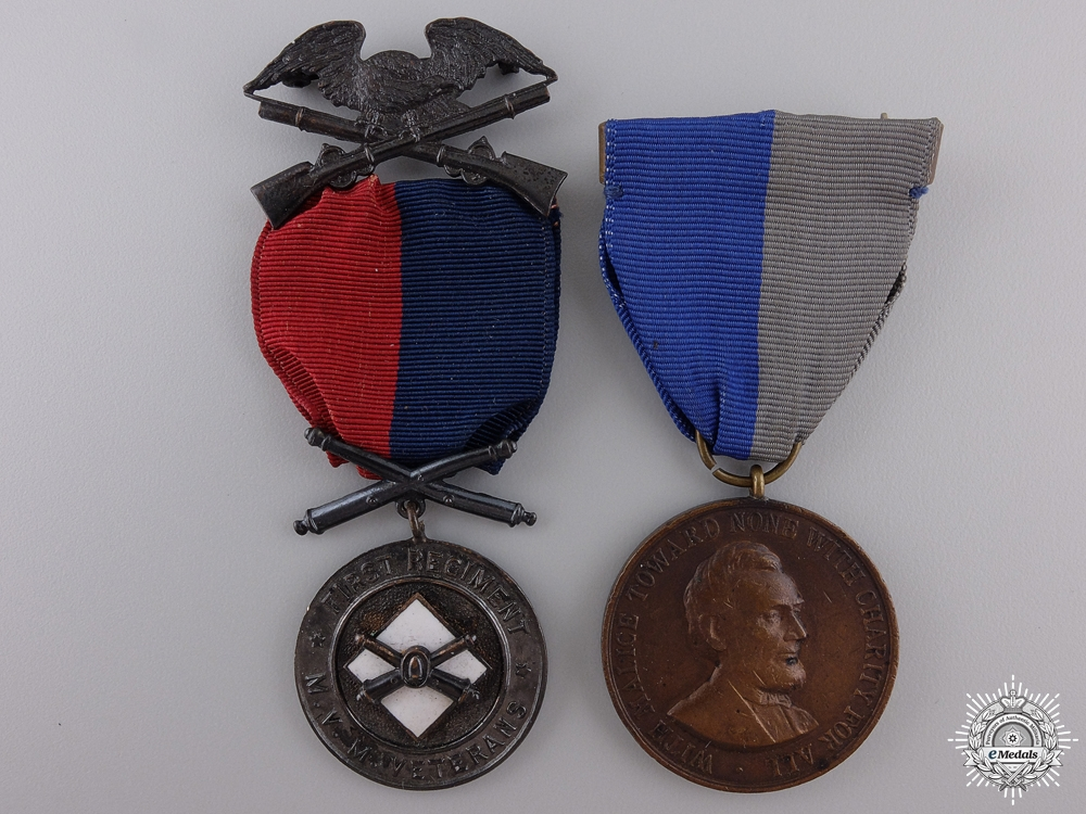 An American Civil War Medal Pair the First Regiment