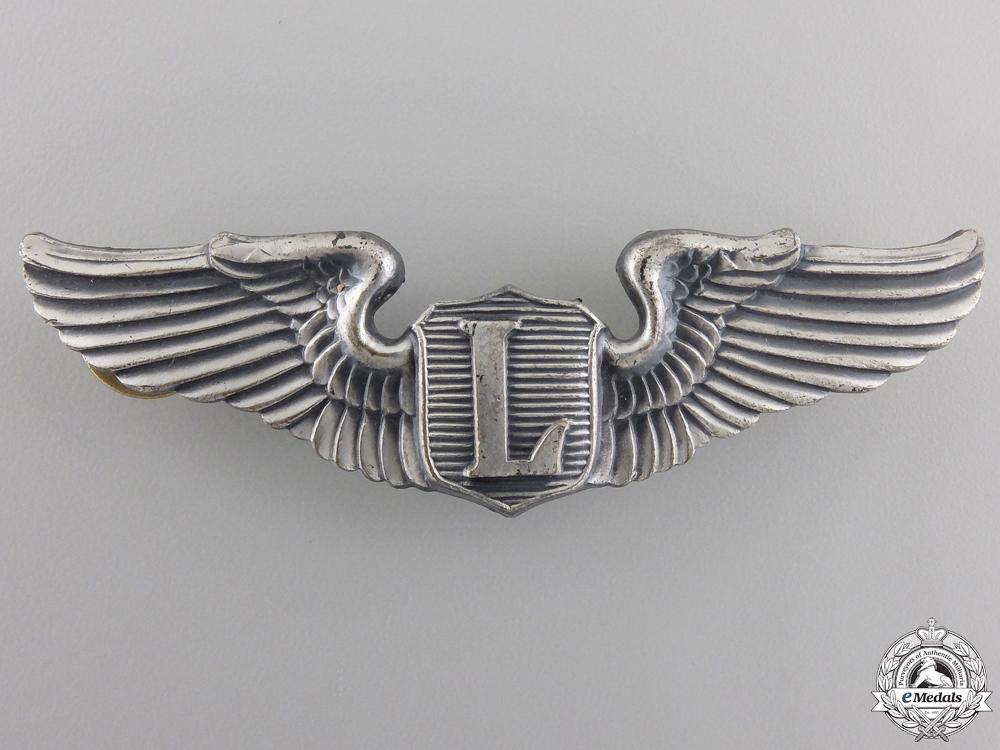 An American Second War Liaison Pilot Badge by Amcraft