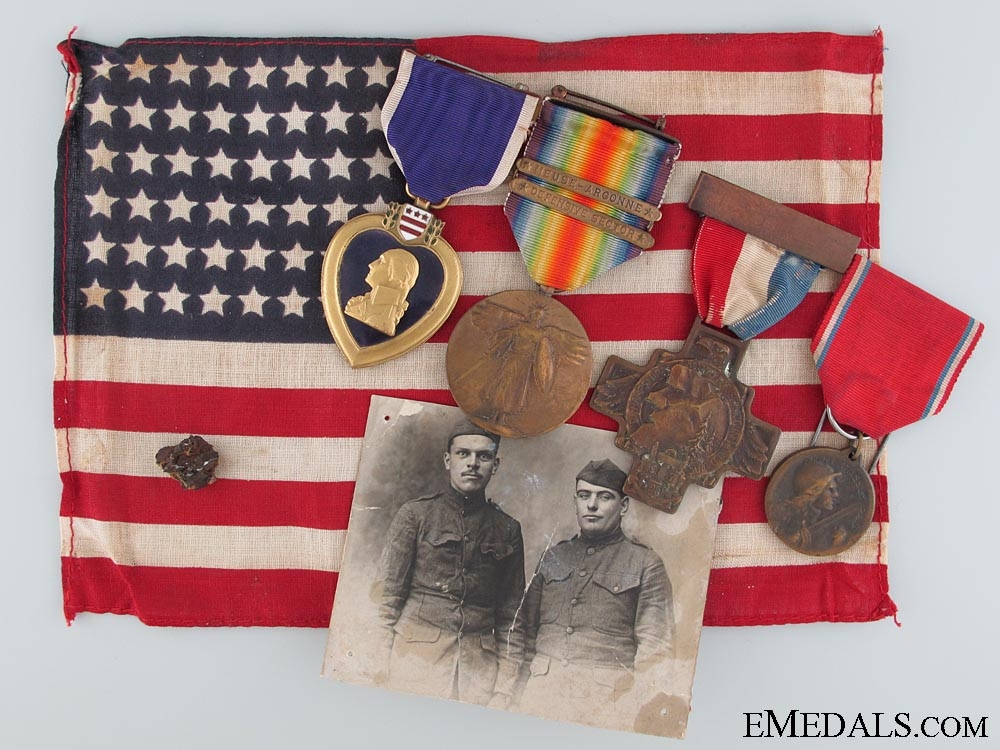 An American WWI Purple Heart Group