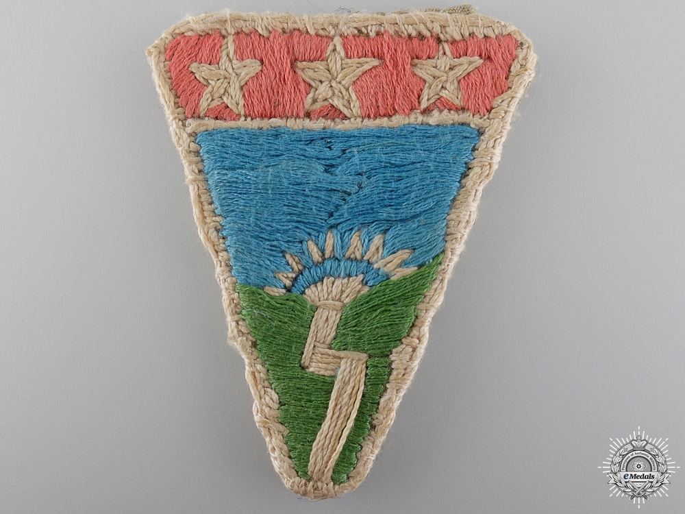 An American WWII China-Burma-India Theatre Ledo Road Patch