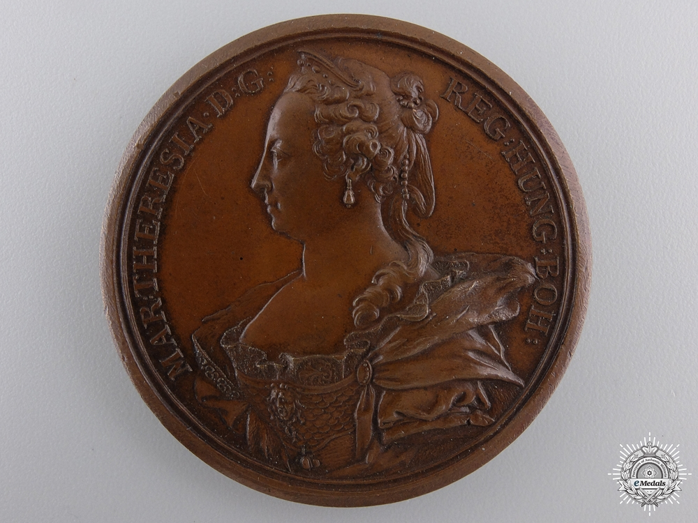 An Austrian 1745 Medal of Maria Theresa