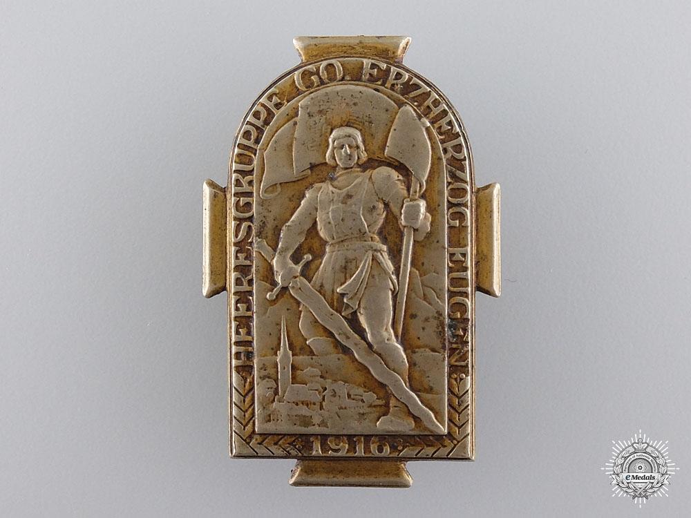 An Austrian Archduke Eugen Army Group Badge