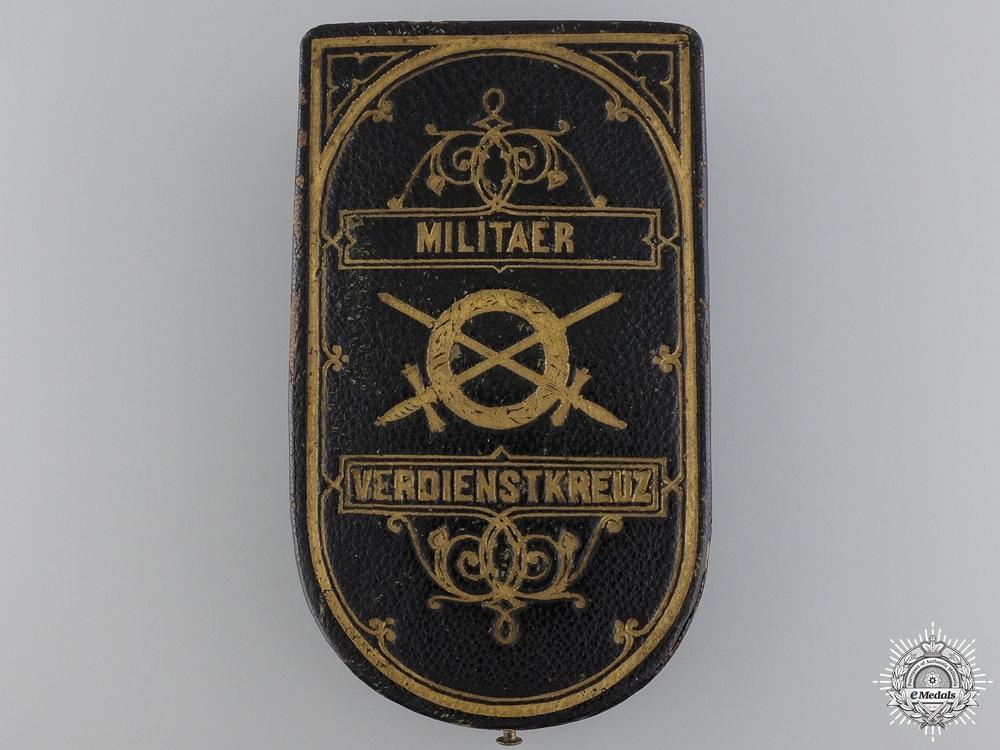 An Austrian Military Merit Cross; 3rd Class Case