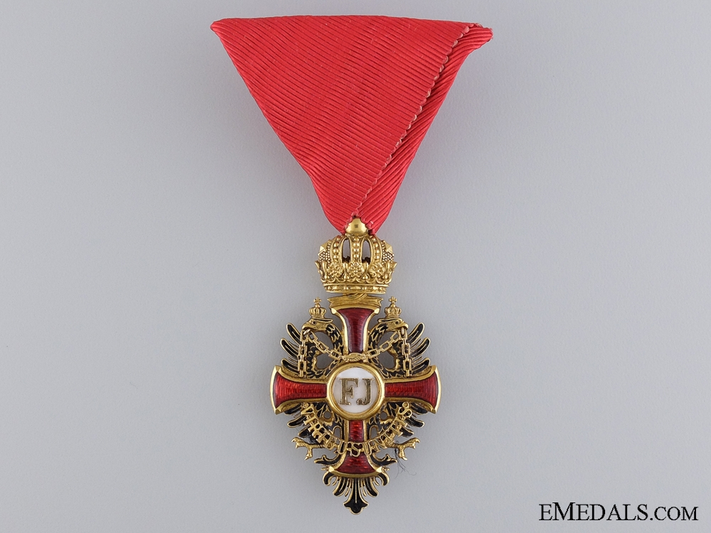 An Austrian Order of Franz Joseph in Gold by V.Mayer