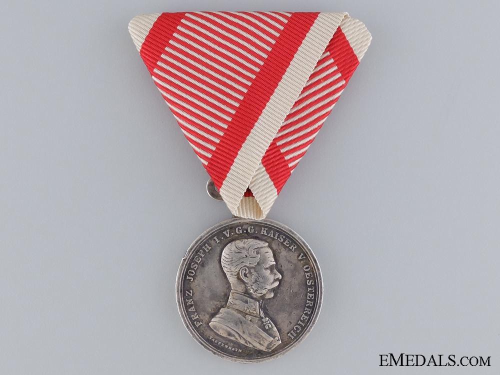 An Austrian Sliver Bravery Medal; Second Class