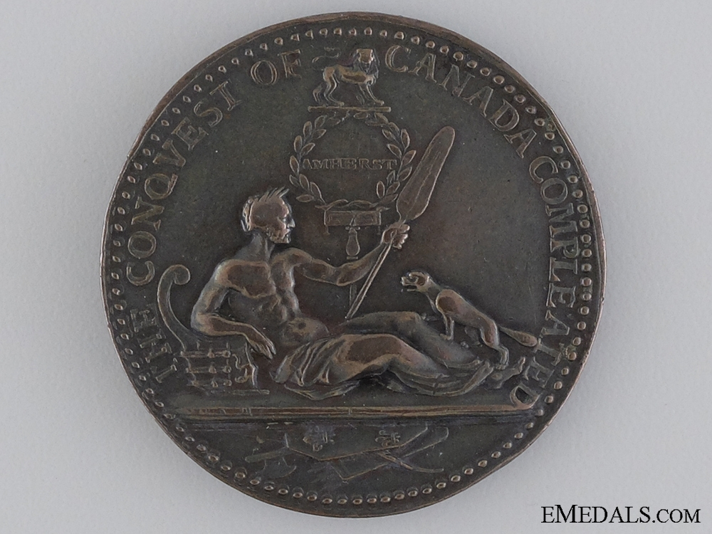 An Early 1760 Montreal Taken British Campaign Medal