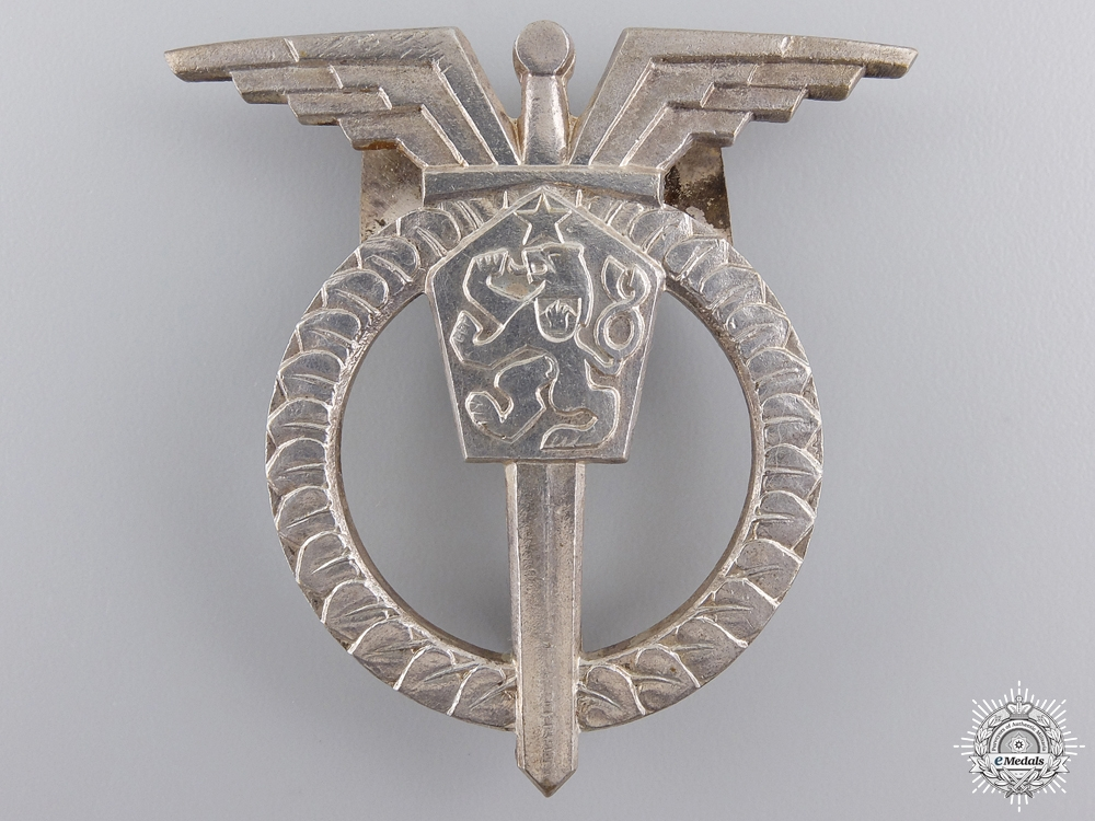 An Early Czechoslovakian Socialist Pilot Badge by Zukov