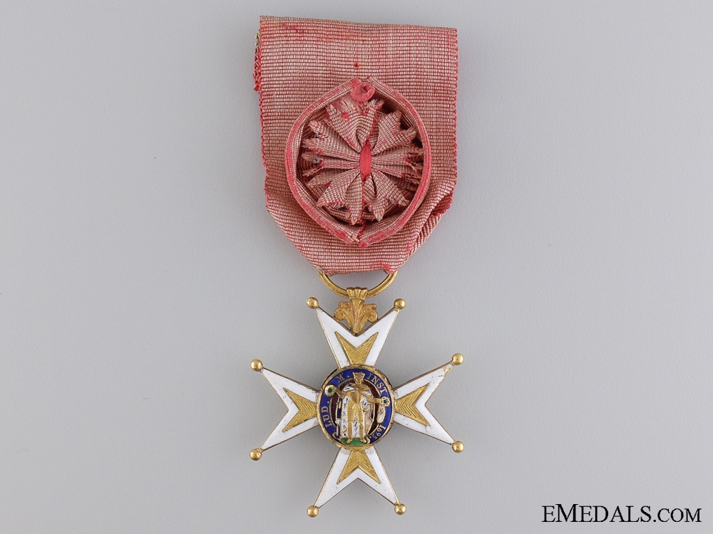 An Early French Order of St. Louis in Gold; Circa. 1800