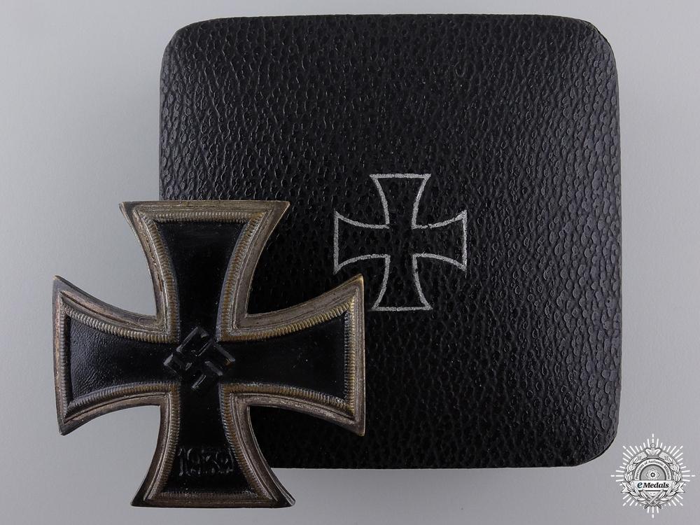 An Early Iron Cross 1st Class 1939 by Wilhelm Deumer; Schinkel Version