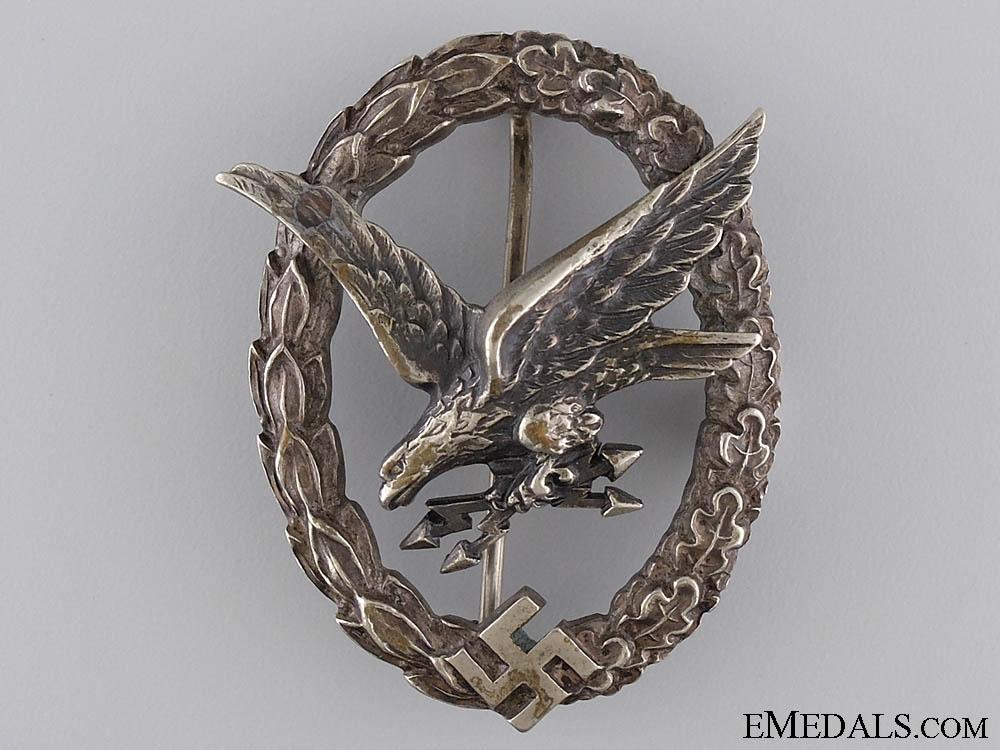 An Early Radio Operator & Air Gunner Badge by W. Deumer
