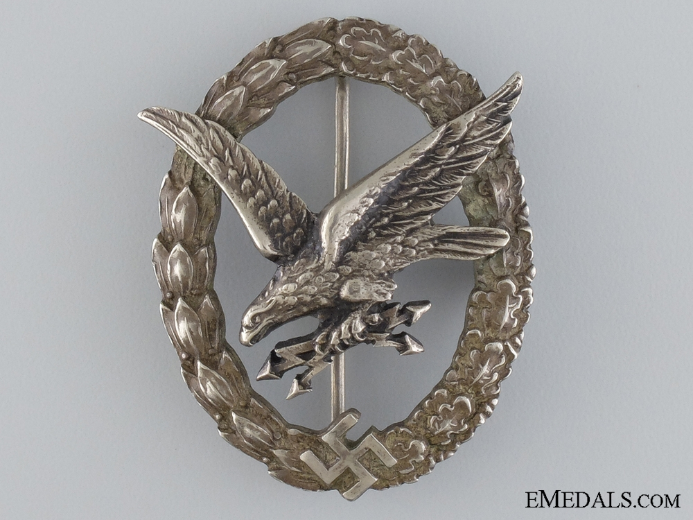 An Early Radio Operator & Air Gunner Badge by Juncker