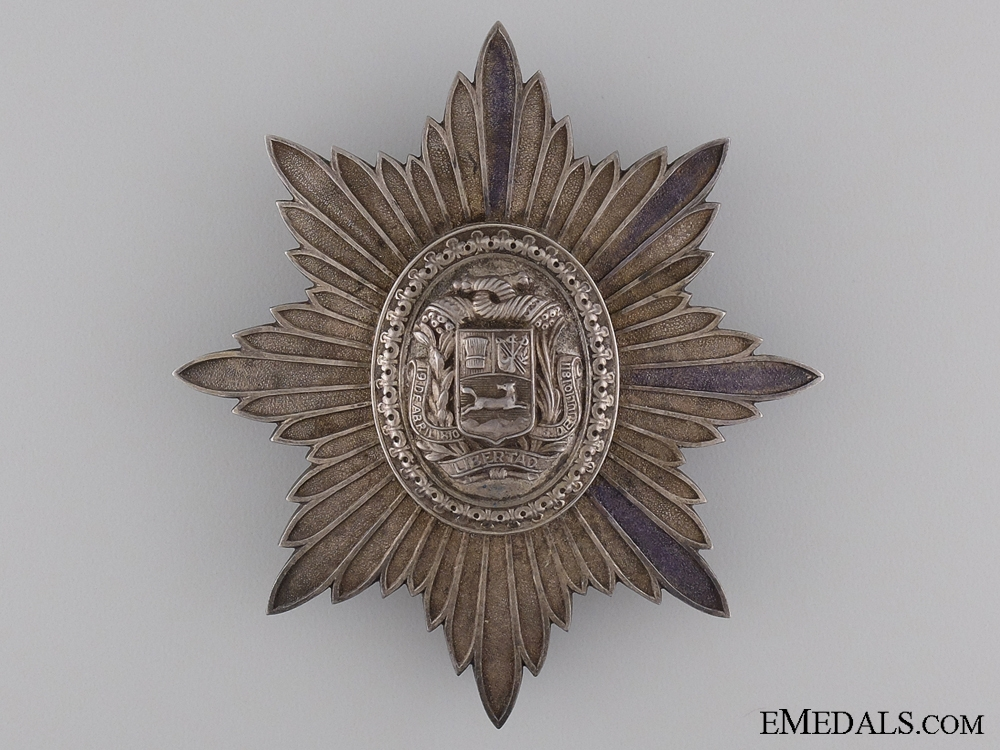 An Early Venezuelan Order of the Liberator