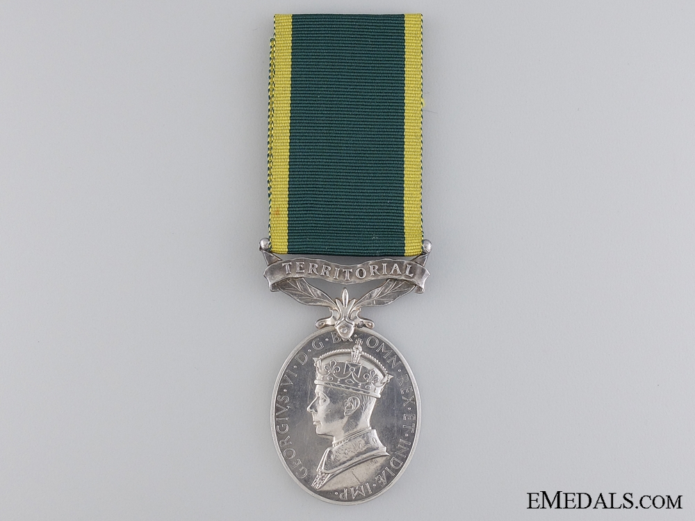 An Efficiency Medal to Gunner J.R. Range; Royal Artillery
