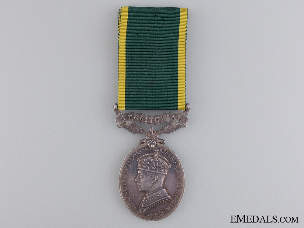 An Efficiency Medal to Gunner A.E. Clarke; Royal Artillery