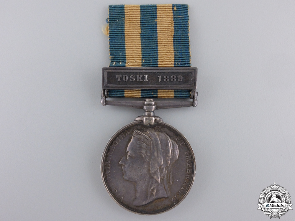An Egypt Medal to the 20th Hussars for Toski