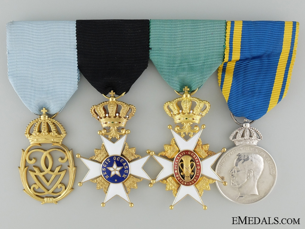 An Exquisite Swedish Group of Four Awards