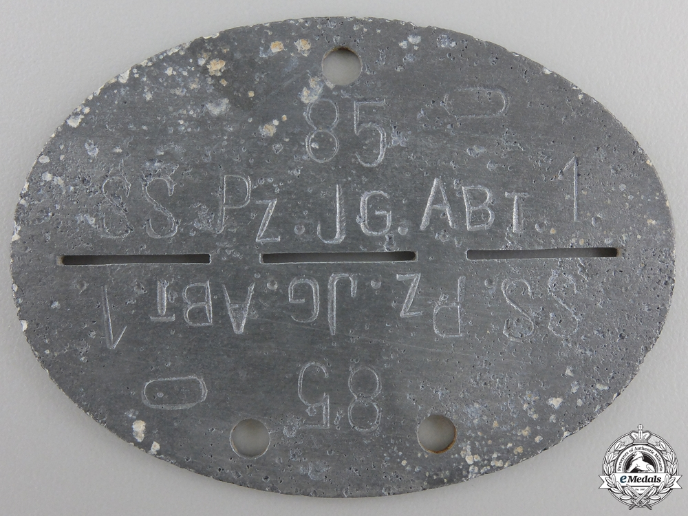 An Identification Tag to the SS.Pz.Jg.Abt.1.