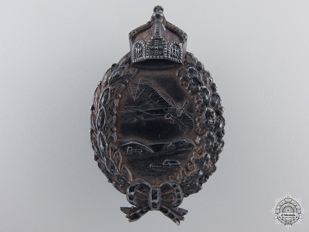 An Imperial German Flyers Silver Commemorative Badge; Prinzen Size