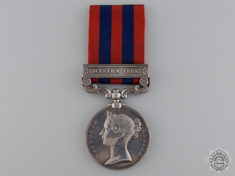 An India General Service Medal to the 2nd Sikh Infantry