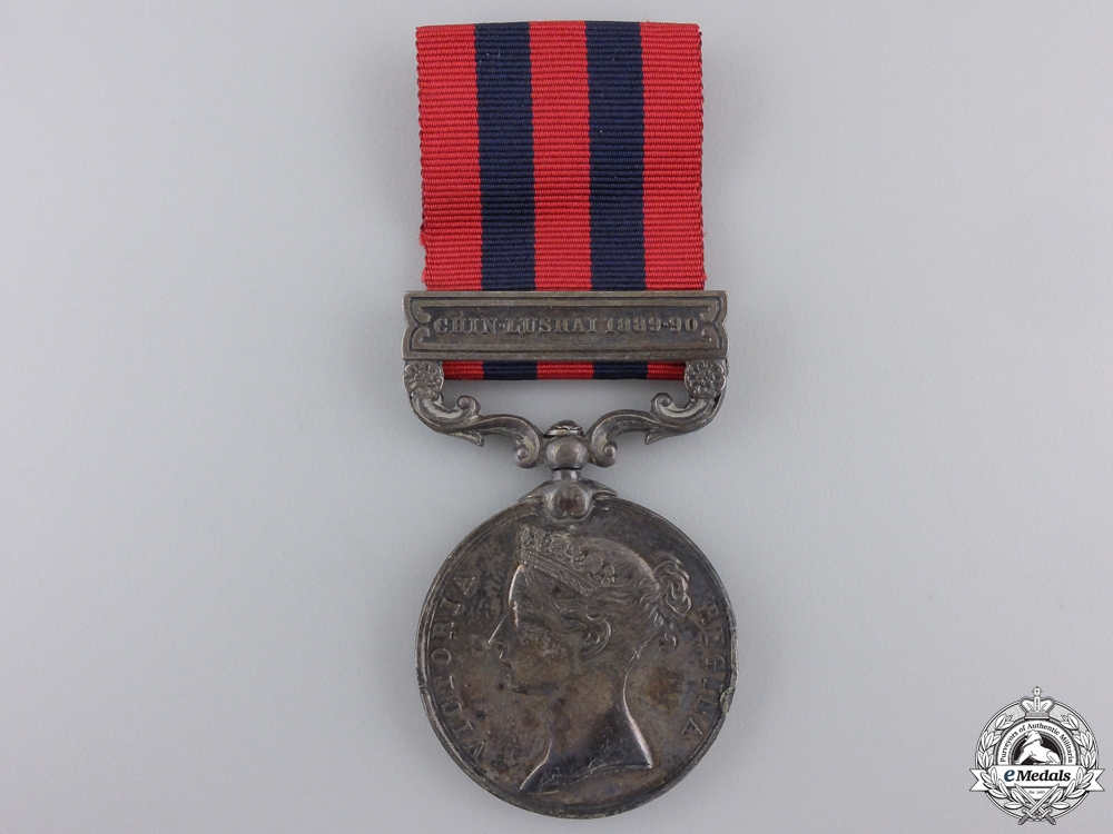 An India General Service Medal to the Cheshire Regiment