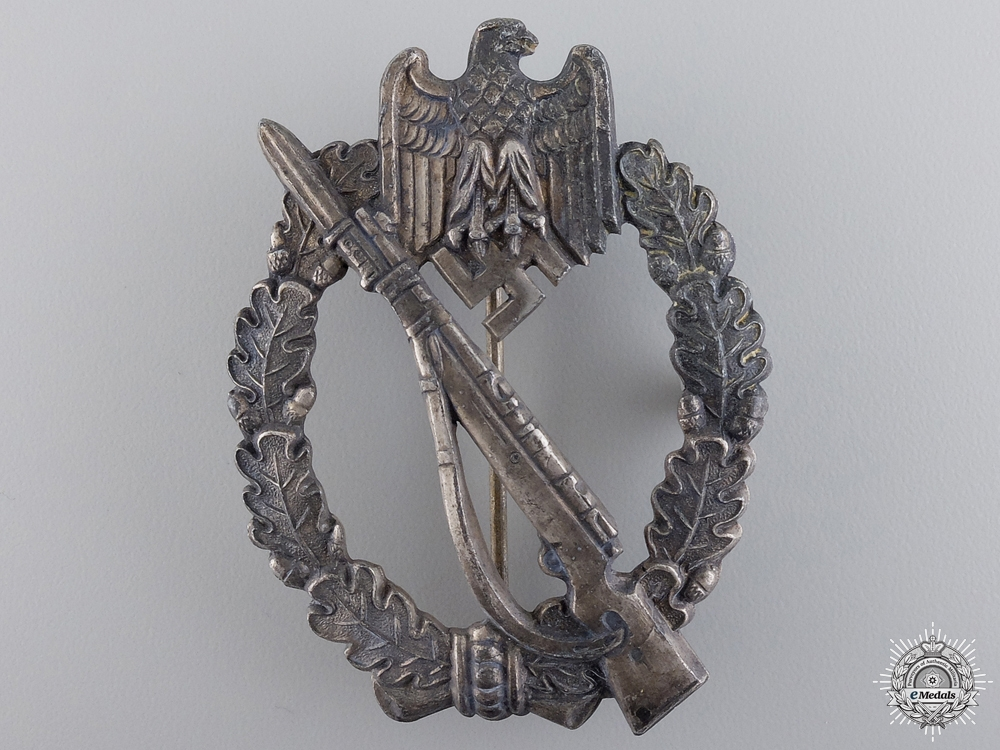 An Infantry Badge; Silver Grade