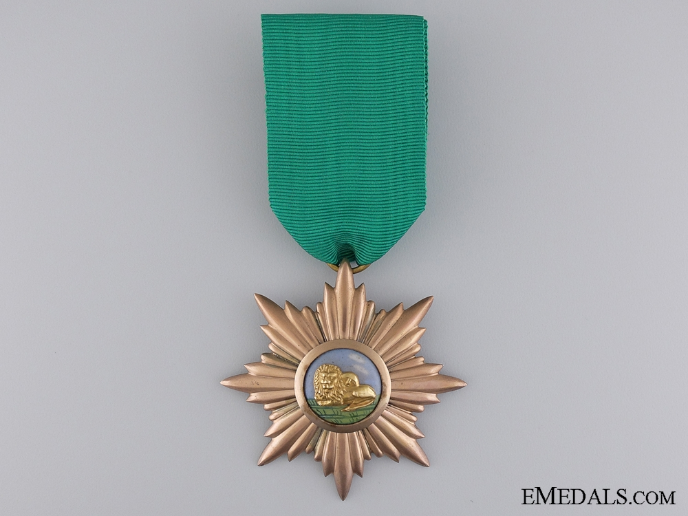 An Iranian Order of the Lion and Sun; Civil Division