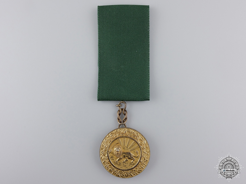 An Iranian Order of Homayoun; Gold Grade Medal by AB&C