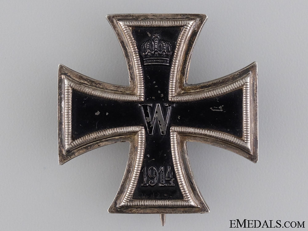 An Iron Cross First Class 1914; Marked KO