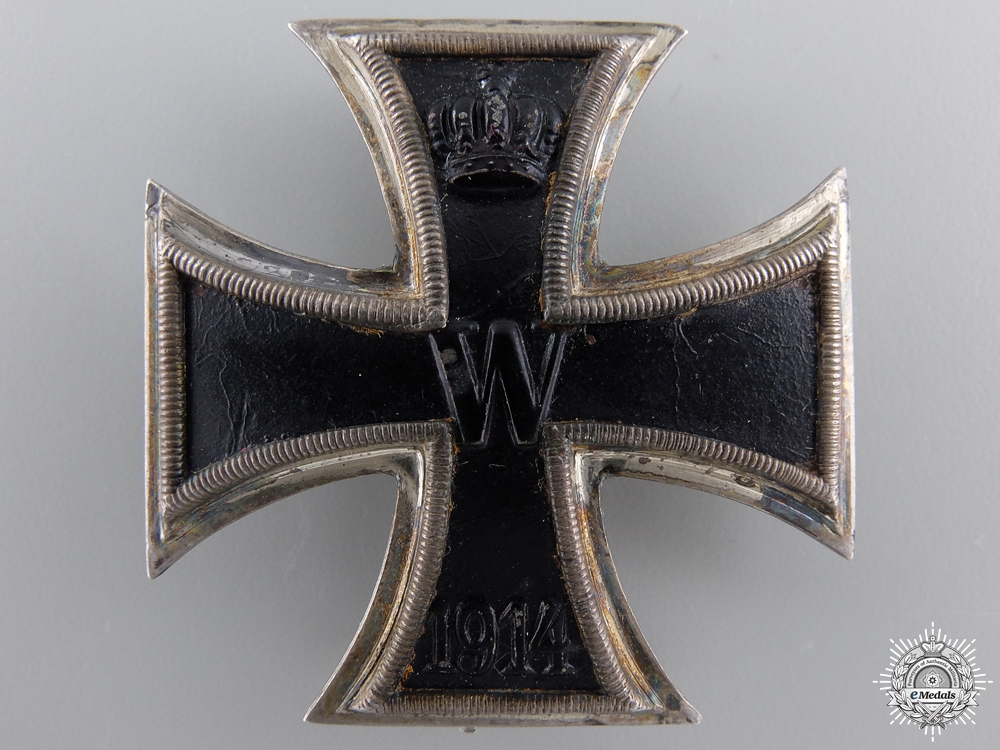 An Iron Cross First Class 1914; 900 Silver