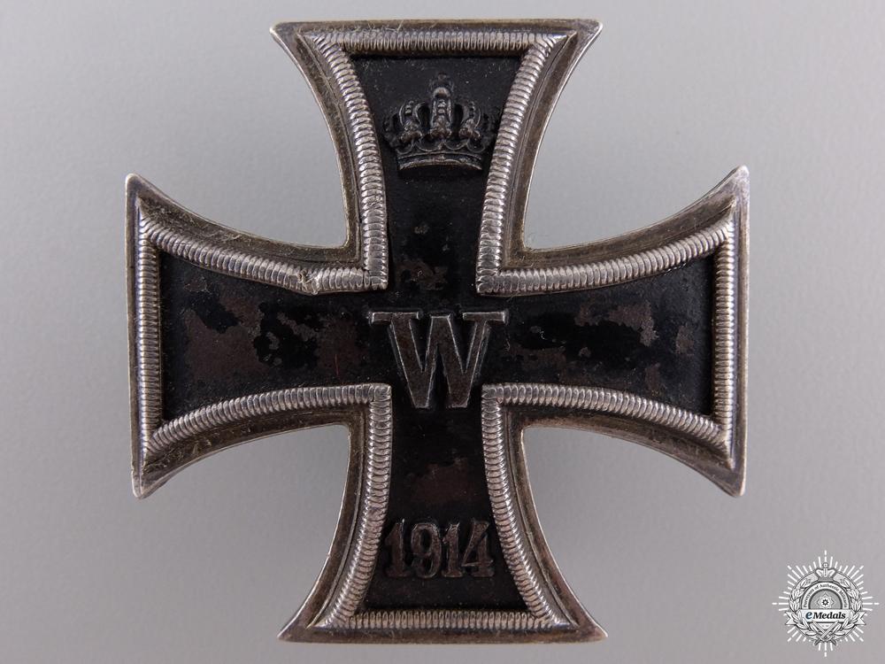 An Iron Cross First Class 1914; Screwback