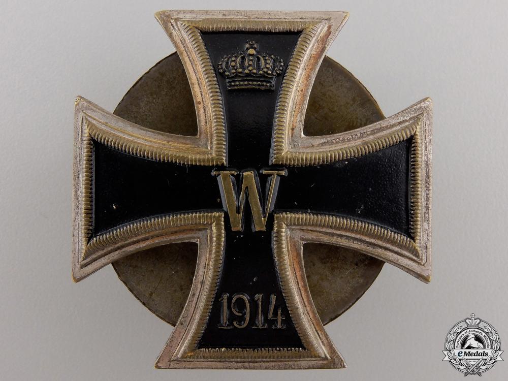 An Iron Cross First Class 1914; Screwback Version