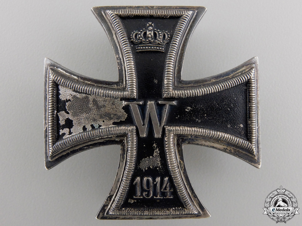 An Iron Cross First Class 1914; Silver