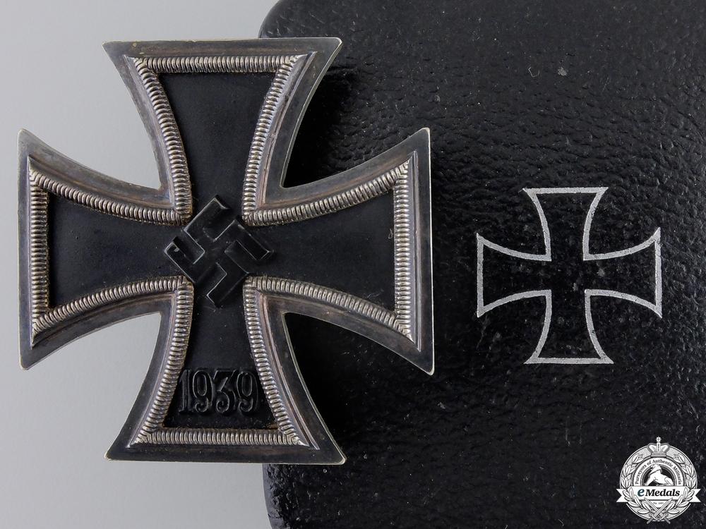 An Iron Cross First Class 1939 with Case