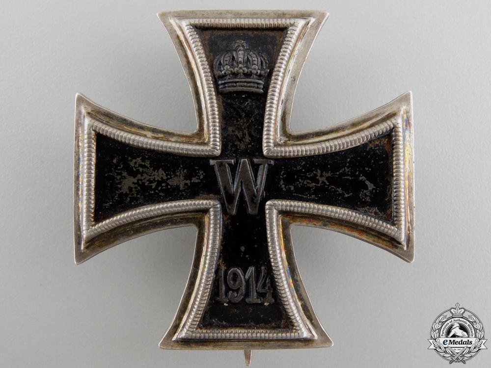 An Iron Cross First Class 1914; Marked KO