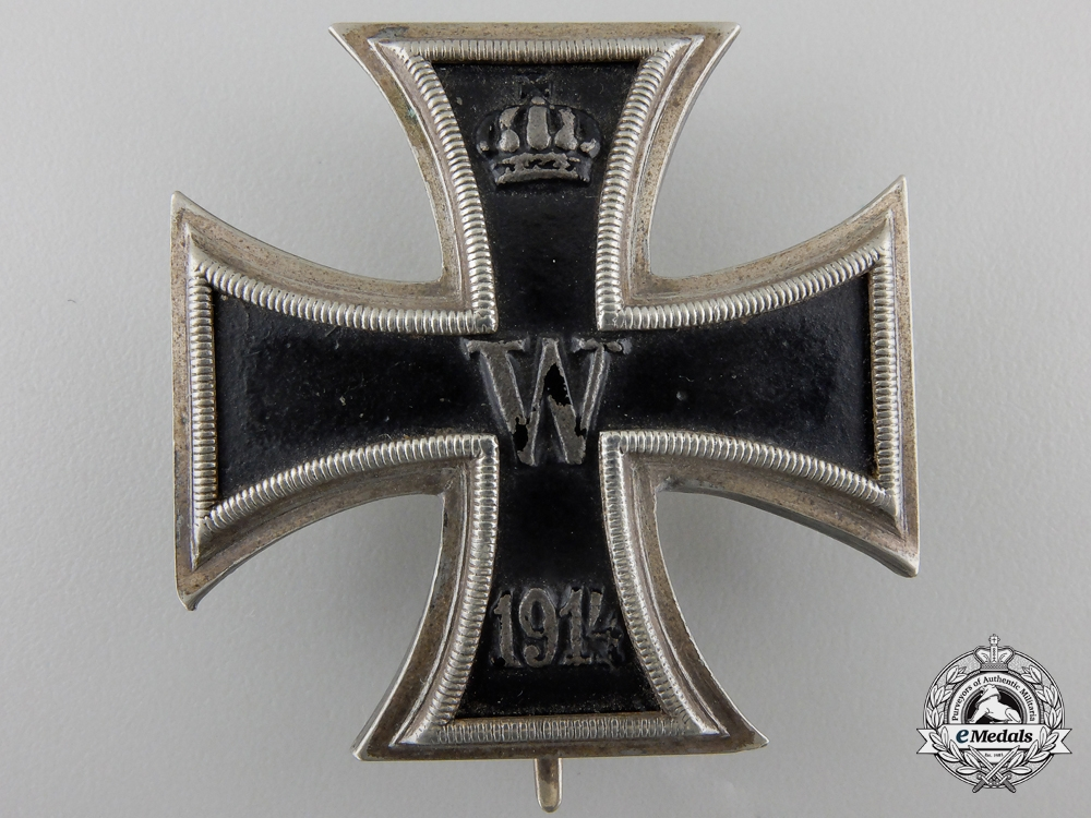 An Iron Cross First Class 1914; Silver